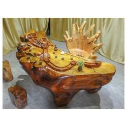 供应品质好的根雕茶台 展厅茶桌茶台整装