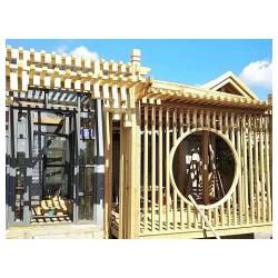 福州连江仓山等地园林花架防腐木材料的设计以及选择 佳艺木业